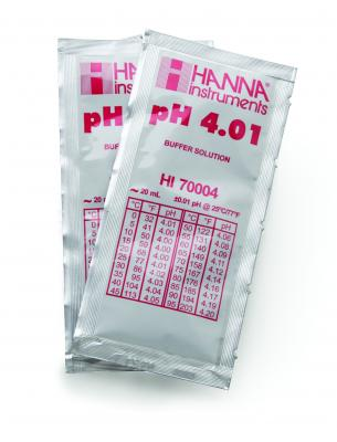 Solution tampon pH 4.01, 25 sachets de 20ml