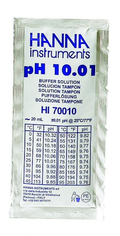 Solution tampon pH 10,01, 25 sachets de 20 mL